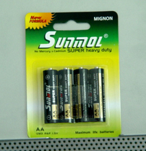 1.5V R6 size aa carbon battery packs