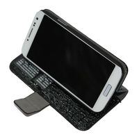 High Quality Croco PU Wallet Case for Samsung S4 With Card Slot.