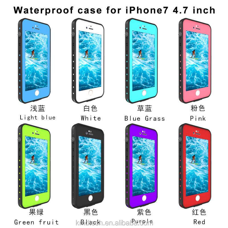 New Released Dot Series Rugged IP68 Certificated Waterproof Shockproof Dirtproof Case for iPhone 7 4.7''