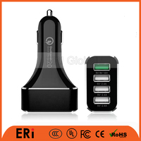 high speed 9v 2a usb electic car charger smart IC control 5v 2.4a 12v1.5a QC car charger