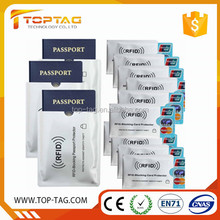 2016 most popular rfid blocking card protectors passport size sleeves