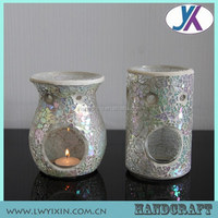 Colored decorative mosaic glass oil burner incense lighter