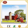 Beautiful Farmland and Red Car LED Wall Decoration Canvas Painting