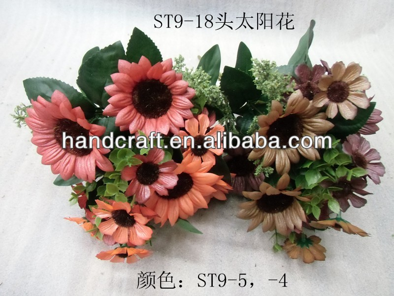 new production artificial silk daisy chrysanthemum flowers with leaves