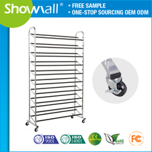 Retail folding shoe display racks stand for shops