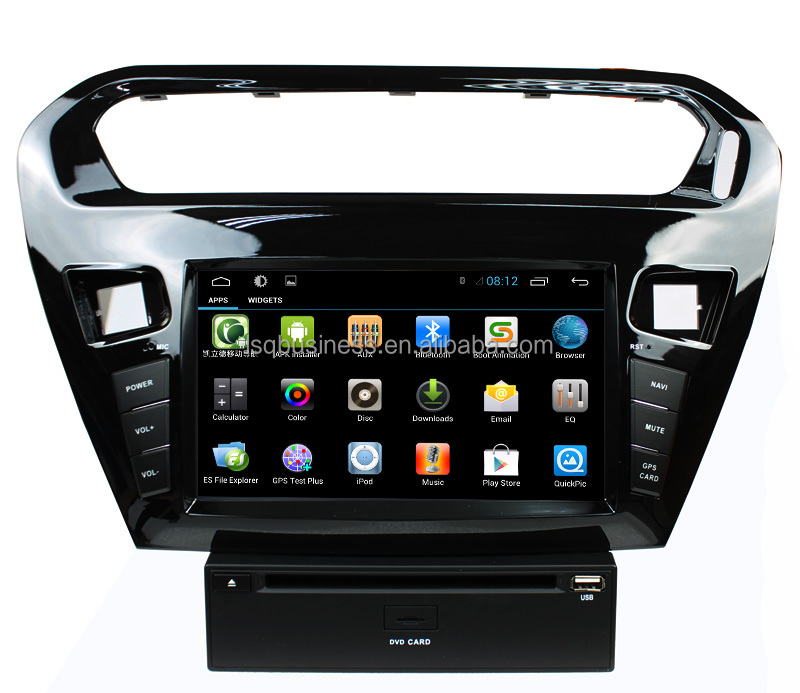 Built-in 3G Wifi Quad Core Cortex A9 Android 4.4 Touch Screen Support MP3 MP5 Player For Peugeot 301 Car Audio DVD