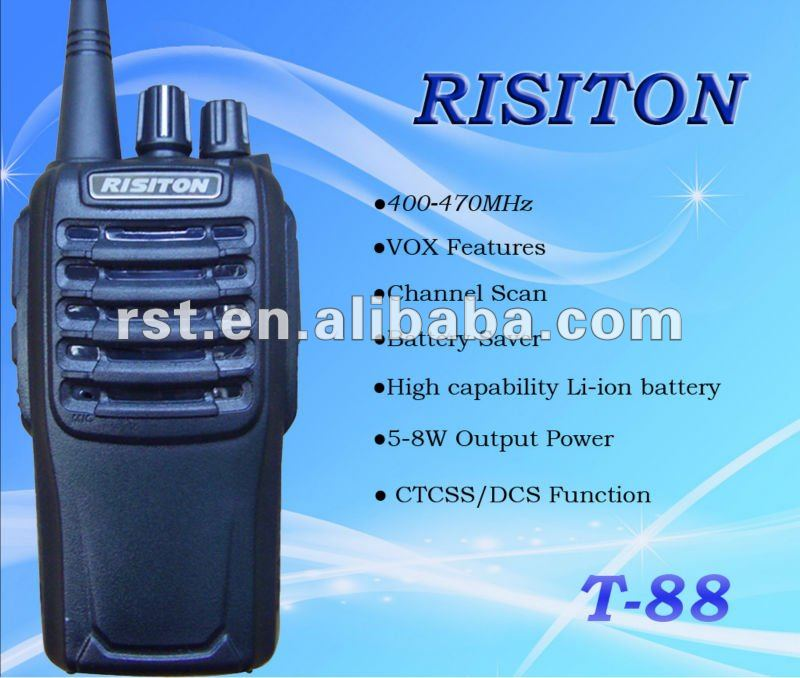 RISITON T88 mobile radio 400-470MHz two way radio security guard equipment ham radio