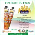 Fire Proof PU Foam Spray (RoHS, SGS, Reach, canton fair 2012)