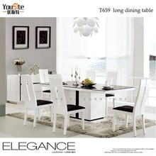 european modern white dining table with one leg