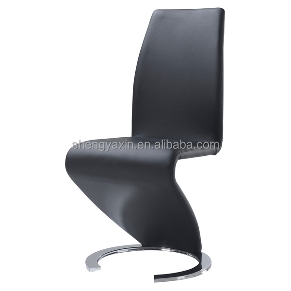 Black Leather Z Shape Dining Chair Product On