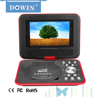 factory wholesale price quality TFT Portable DVD 7 inch Mobile DVD Player support MPEG/JPEG/MP3/AVI/DIVX EVD Portable DVD Player