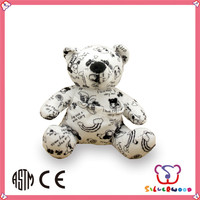Over 20 years experience wholesale customized size DIY cute teddy bear with red heart