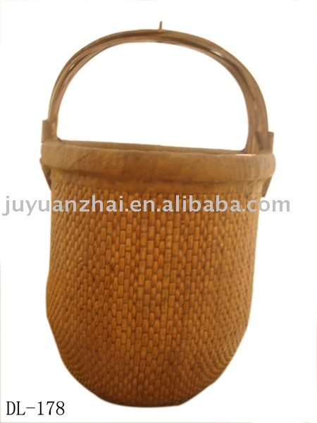 Chinese Antique Furniture-Craft Wicker Basket