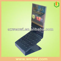 Black Acrylic E-cigarette Stand With Customized Poster