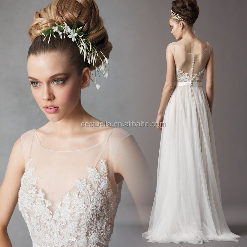 New hot sales china factory direct A line cheap wedding dress made in china