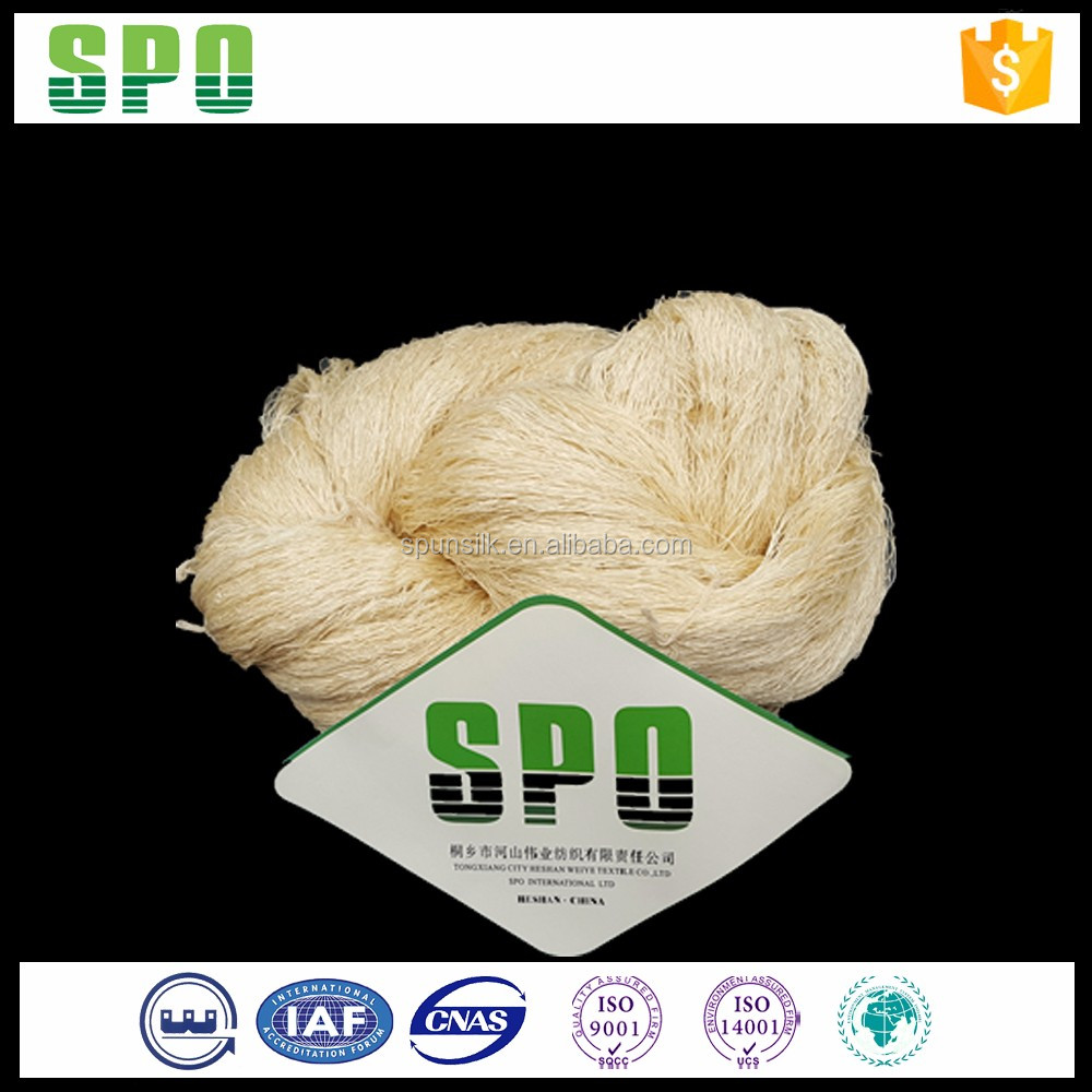 SPO Wieye Wholesale Udyed 120Nm/2 Yarn Tussah Silk For Rugs Knitting