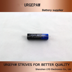 Factory wholesale Urgepaw 3.7v cylinder lithium ion battery li-ion 14500 700mah 3.7v battery lithium ion battery 500 times