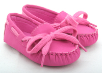 infant baby girl suede leather casual loafers flat boat shoes