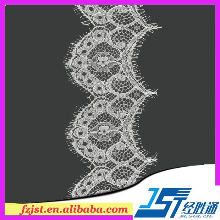 High Quality Non-Elastic Swiss Dot Lavender Lace Fabric Wholesale Eyelash Lace