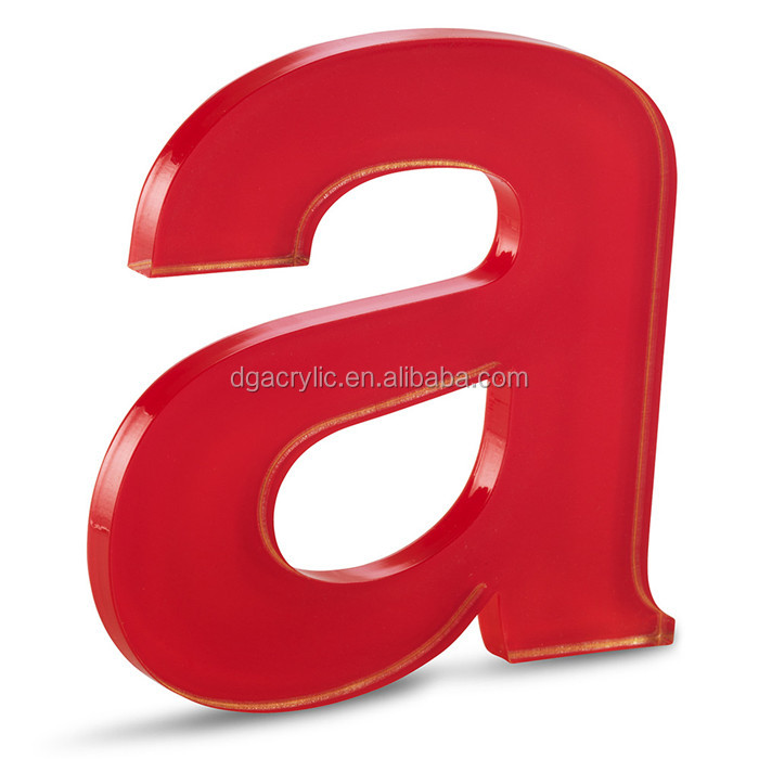 wholesale custom laser cut 3d clear acrylic alphabet letter