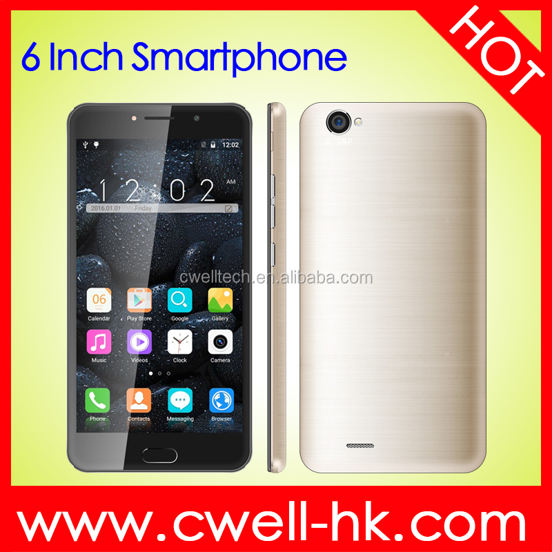 Whole sale Bar mobile phone X-BO MTK6580 Quad Core 6 Inch android phone