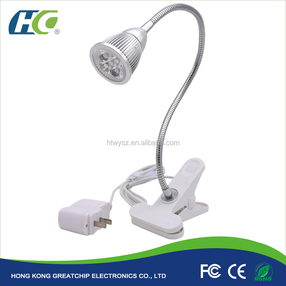 5W 360 Degree Desk Flexible Neck Plant Led Grow Light For Hydroponic Garden Greenhouse