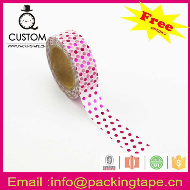 China supplier cochineal color washi tape for diy decoration