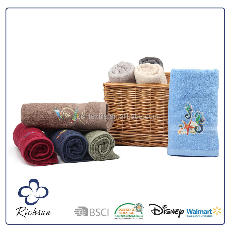Bulk Wholesale 100% Cotton Face towel/ Hand towel/ Bath towel Sets Custom