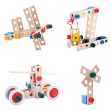 Fun 3D Wooden Puzzle Natural material children intelligent DIY model educational toy gift for baby