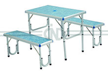 aluminum folding table and bench