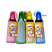 Factory Direct Foldable Dog 300ml 500ml Portable Plastic Wholesale Travel Pet Bowl Portable Drink Dog Water Bottle