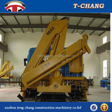 low price 5ton 12m power block articulated boom truck mounted crane for sale