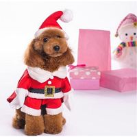 Christmas Costumes Santa Claus Dog Clothes With Hat