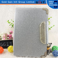 Luxury Design Stand Magnet Pu Leather Smart Wallet Case for iPad Mini