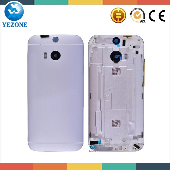 Original Phone Repair Parts Back Cover For HTC One M8 Battery Cover With Camera Lens and Power & Volume Buttons Replacement