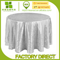Taffeta pintuck table cloth for wedding/meeting/banquet