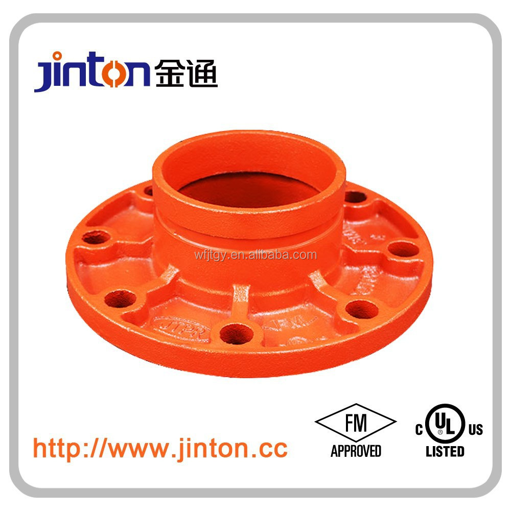 FM UL approved fire fighting pipe cnnector of flange adaptor