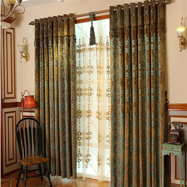 jacquard fabric curtain and blinds