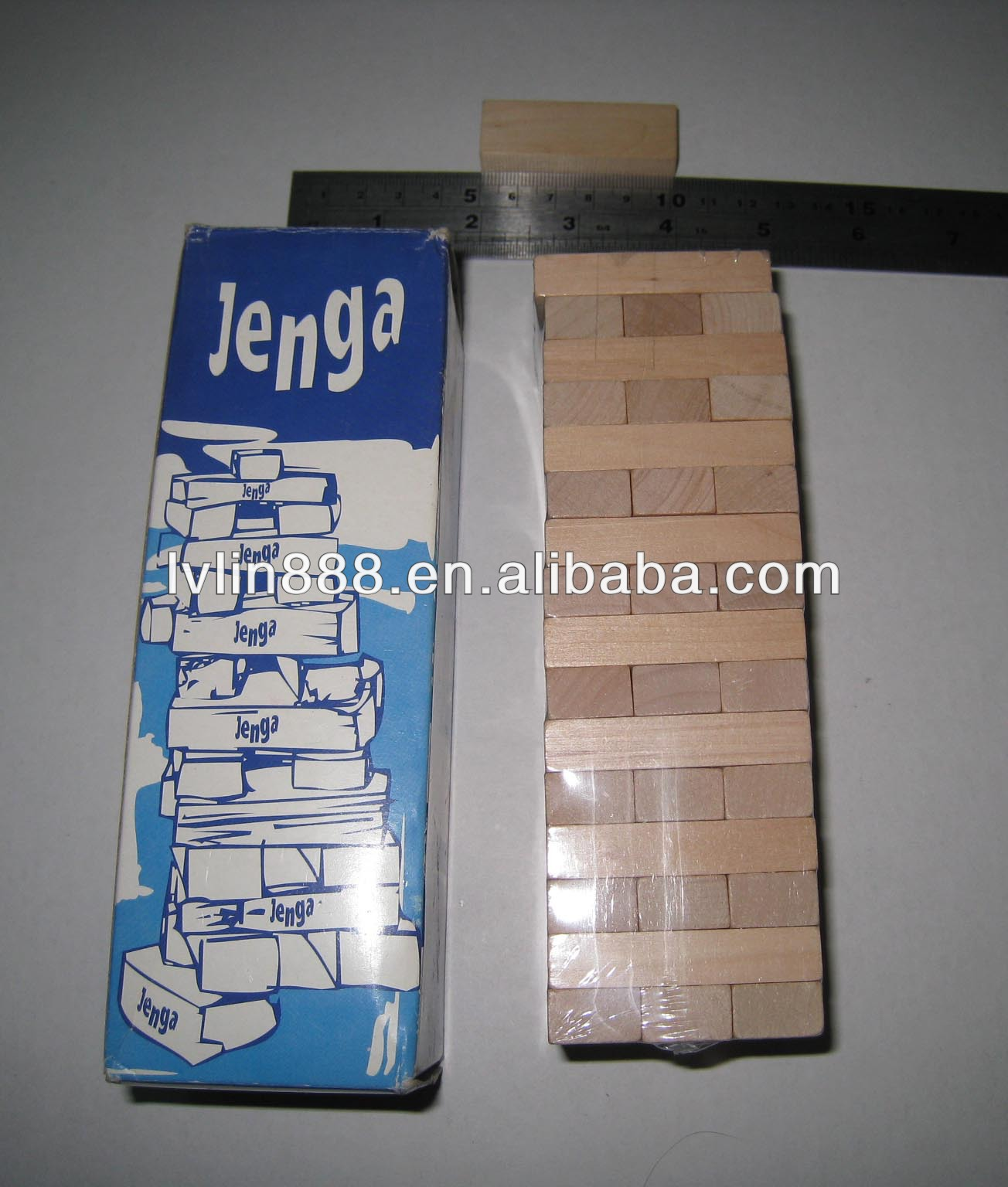48pcs Wooden Bricks Natural Wood Kid Toy without chemical