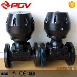 cast steel rubber lined diaphragm valve for water