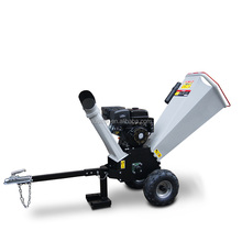 Trailer mounted Small 15 HP Gas Engine Powered Wood Chipper Shredder Industrial