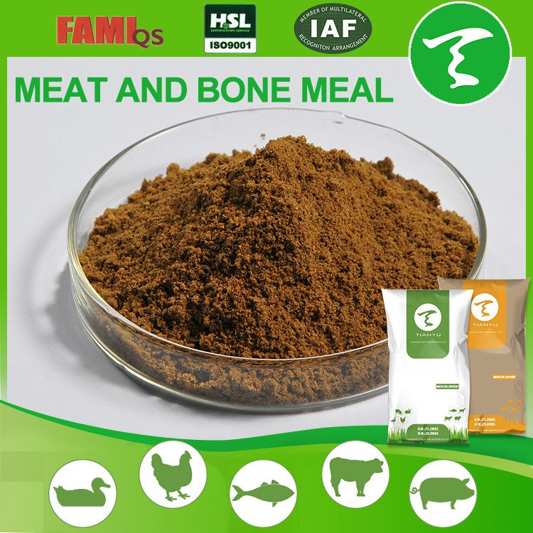 ISO 9001:2008 and FAMI-QS 55% Protein Feed Grade pork meat and bone meal