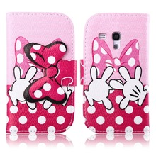 For Samsung Galaxy S3 Mini Case,PU Leather Wallet Case Cute Bow-knot Flip Cover for Samsung Galaxy S3 Mini Case