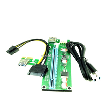 Factory Sell VER 008S PCI-E PCI Express Riser 1X to 16X Extension Extender Cable usb 3.0 for bitcoin mining