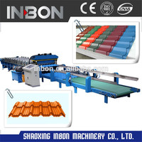 Full Automatic Step Tile Roll Forming Machine/glazed tile roll forming machine/roof tile roll forming machine