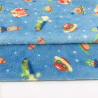 new design printed Flannel fleece blanket fabric for blankets baby clothes pajamas