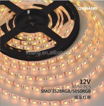 Decorative DC 12V No-Waterproof RGB LED Flexible Strip Light