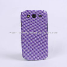 2013 hot selling mobile phone samsung i9300 Carbon Fiber patterns phone case SX004-3