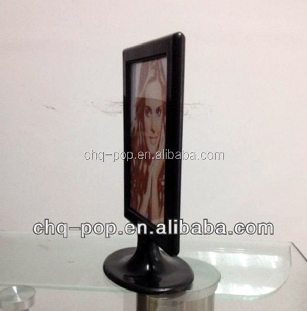 Plastic post display stand / photo frame / Menu display stand