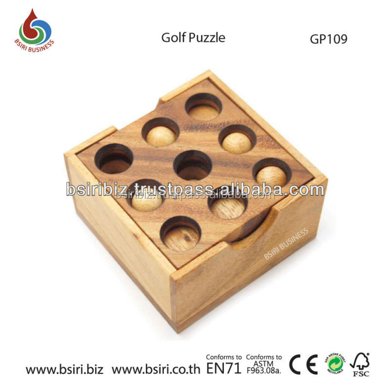 childrens wooden golf puzzle toys